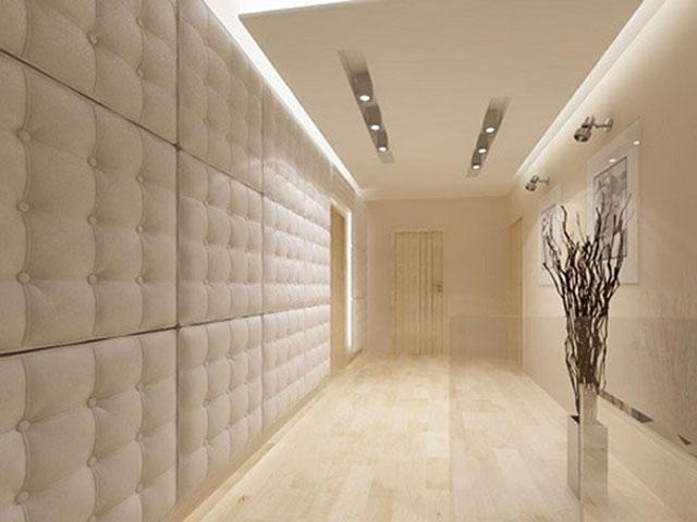 Панели для коридора из кожи