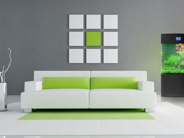 Обои для зала в стиле минимализм