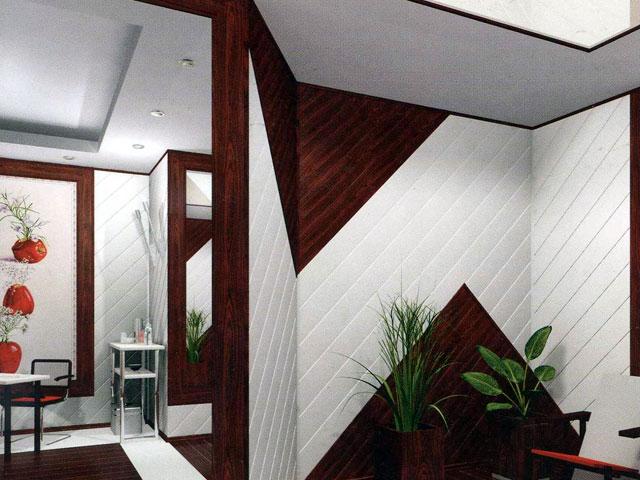 Отделка комнаты реечными панелями из пластика