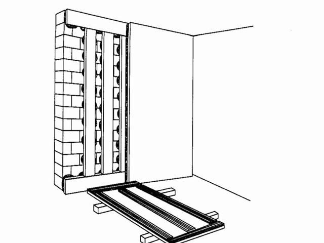 Крепление гипсокартона на стены с кривизной более 2 см
