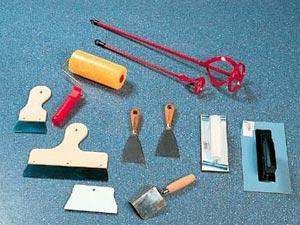 Инструменты для шпаклевки стен