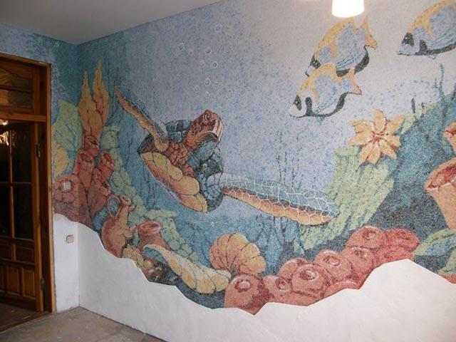 Дизайн стен с помощью жидких обоев