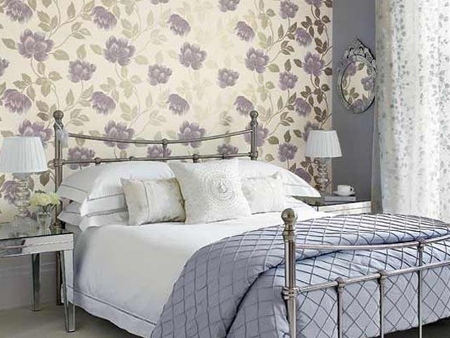 Обои для спальни в классическом стиле