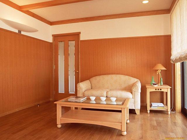 ламинированные мдф панели в комнате