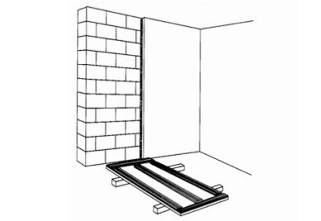 Способ приклеивания гипсокортона при минимальной кривизне стен