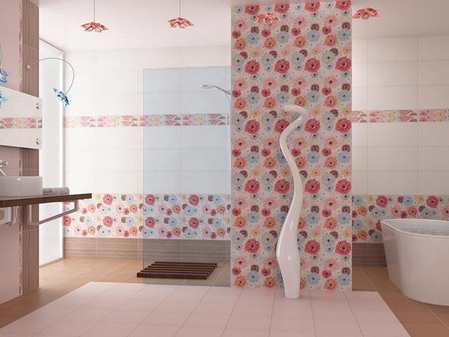 Отделка ванной комнаты плиточными ПВХ-панелями