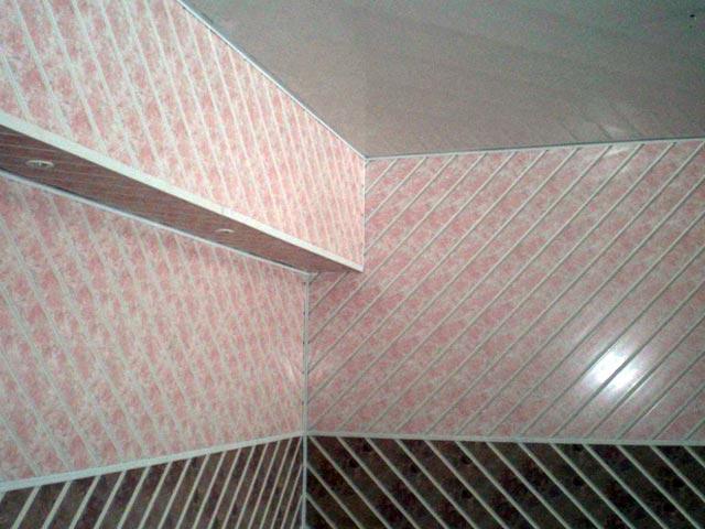 пластиковые панели по диагонали