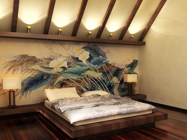 Обои для спальни в этническом стиле