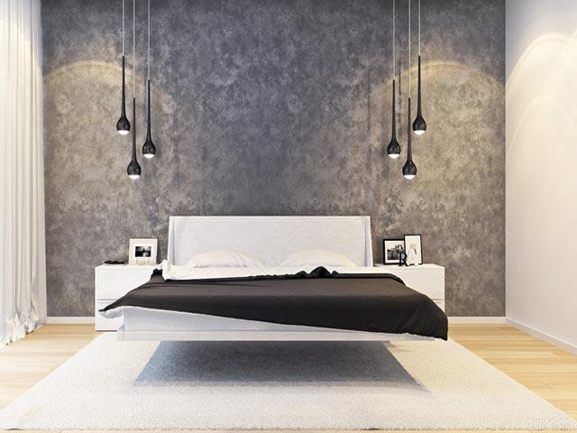 Обои для спальни в стиле минимализм