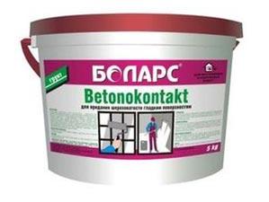Преимущества грунтовок бетоноконтакт