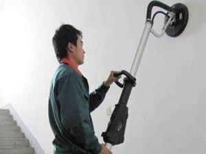 Шлифование стен машинкой