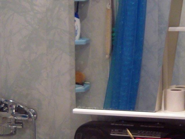 Светлые пластиковые панели в ванной